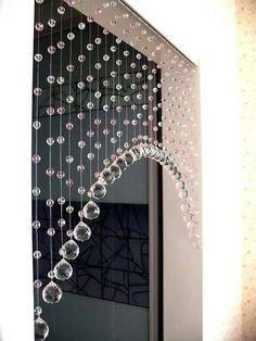 Cortinas piedras Interior Decorating, Interior Design, Gypsy Decorating, Interior Office, Room Interior, Beaded Curtains, Crystal Curtains, Diy Curtains, Beautiful Curtains