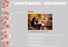 Wedsite FAQ suggestions
