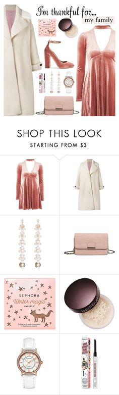 """""""I'm Thankful For...My Family"""" by dora04 ❤ liked on Polyvore featuring Oh My Love, Olympia Le-Tan, Sephora Collection, Laura Mercier, Benefit and Aquazzura"""