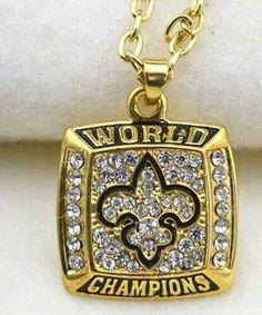 Saints Super Bowl Ring necklace