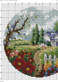 Cross Stitch Fruit, Cross Stitch House, Beaded Cross Stitch, Simple Cross Stitch, Cross Stitch Flowers, Cross Stitch Embroidery, Cross Stitches, Embroidery Patterns, Cross Stitch Patterns Free Easy