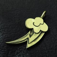 Bronze Rainbow Dash pendant by TheSunkenCity on Etsy