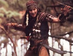 Adventures in the Sin Trade 1 and 2 - Evil Xena  The coin hat, jeweled armbands and torso, was just fantastic. This costume was well thought...
