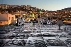 Inside Out Project in Palestine & Israel - Naplous by JR - Artist