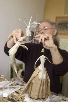 paper maché dolls in progress            Bernard Jeunet