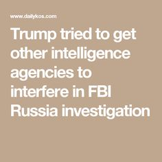 Trump tried to get other intelligence agencies to interfere in FBI Russia investigation