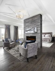 15 Double-Sided Fireplace Design Ideas For A Warm Home During Winter - Page 3 of 3