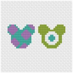 Brilliant Cross Stitch Embroidery Tips Ideas. Mesmerizing Cross Stitch Embroidery Tips Ideas. Perler Bead Disney, Perler Bead Art, Perler Beads, Easy Perler Bead Patterns, Perler Bead Templates, Disney Hama Beads Pattern, Disney Cross Stitch Patterns, Cross Stitch Designs, Monsters Inc