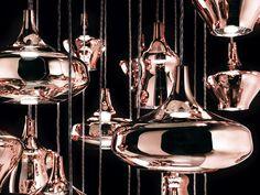 Luxury Designer Nostalgia Suspension Lamp, close up detail - Italian Designer Lighting that recalls the fabulous Living Coral PANTONE Color of the Year 2019.