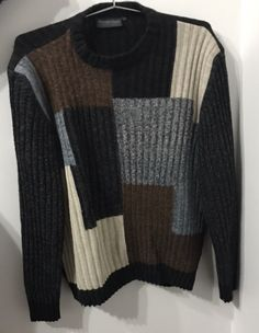 Sweater Monte Carlo Talla 54: Sweater marcaMonte Carlo con diseño a cuadros de colores Calvin Klein, Topshop, Monte Carlo, Men Sweater, Blazer, Sweaters, Fashion, Babydoll Sheep, Leather Jacket