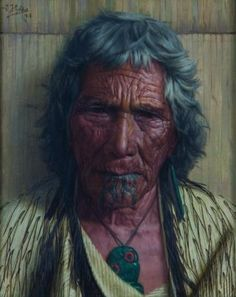 Memories, Rakapa (An Arawa Chieftainess) - Charles Goldie.ive seen Goldie painting up close and their realism is amazing. very beautiful paintings. New Zealand Tattoo, New Zealand Art, Nz Art, Art For Art Sake, Polynesian People, Maori People, Anthropologie, Maori Art, Kiwiana