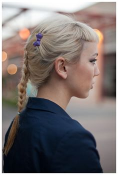 braid and short bangs