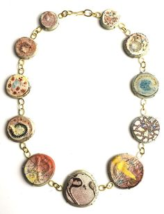 """Jamie Bennett - """"Matters of Appearance"""" Series (2010/2011). Necklace. Gold and enamel. Picture from http://siennagallery.com"""