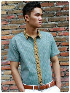 Mavazi summer menswear - Javanese Lurik modified with printing Batik for resort outfit