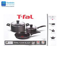 Batería de Cocina T-Fal Family Cook Blanck de 5 piezas
