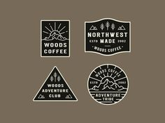 From The Archives outdoor trees sticker shapes northwest seal explore coffee woods logo badges Badge Design, Logo Design, Wood Logo, Creative Portfolio, Fish Design, Best Vibrators, Life Is An Adventure, Club, Sticker Design