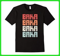 Mens Retro Distressed Baka Anime T-Shirt XL Black - Retro shirts (*Amazon Partner-Link)
