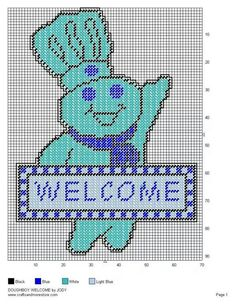 Doughboy welcome sign