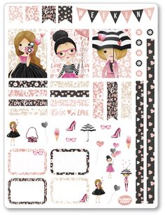 Galentine Decorating Kit / Weekly Spread Planner Stickers for To Do Planner, Free Planner, Planner Pages, Happy Planner, Planner Ideas, Weekly Planner, Planer Organisation, Organization Ideas, Goodnotes 4