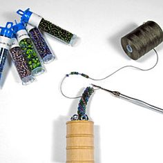 Crochet With Beads Tutorial | Tools for Bead Crochet - Tubular Bead Crochet Jig and Tutorial