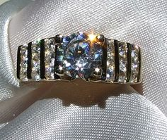 Vintage Channel Set Engagement RingRound by InVogueJewelry on Etsy, $43.00