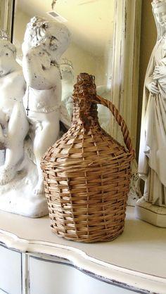 Vintage French Demijohn Wine Bottle, France. $85.00, via Etsy.