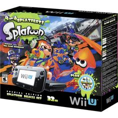 Christmas/Birthday Ideas??  $299 Say what!  Nintendo - Wii U 32GB Console Splatoon Special Edition Bundle - Black - Front Zoom