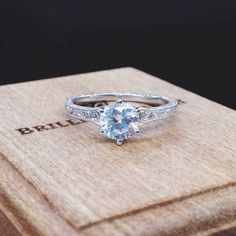 Delightful vintage details. Shop for this style and more by clicking the link in our profile. #BrilliantEarth #engagementring #diamond #engaged #ido