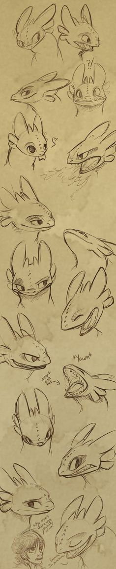 Toothless Expressions by sharpie91