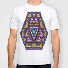 Stained-Glass Snowflake A T-shirt by K Shayne Jacobson - $22.00