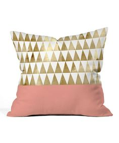 Another great find on #zulily! Gold Triangles Throw Pillow by DENY Designs #zulilyfinds
