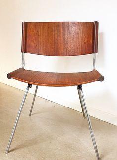 Zeldzame Deense dineren of lounge stoel door architect en ontwerper ...