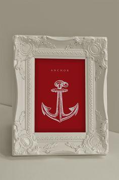 Red Anchor Art Nursery or Bathroom Printable (4x6), $2.5