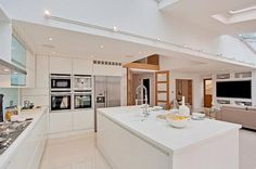 Here's a fully integrated kitchen install we did for Unique Kitchen Solutions showroom in #Corian Glacier White