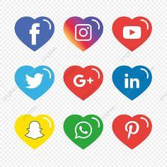Black Social Media Icons, Social Icons, Icones Facebook, Icon Collection, Art Icon, Logo Design Template, Free Logo, Vector File, Prints For Sale