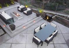Back Patio, Outdoor Living, Concrete Backyard Landscaping Quality Living Landscapes San Marcos, CA - Modern Patio Concrete Backyard, Concrete Patio Designs, Large Backyard Landscaping, Cement Patio, Backyard Patio Designs, Modern Backyard, Modern Landscaping, Diy Patio, Landscaping Ideas