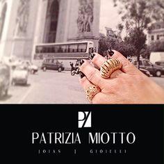 Anéis folheados a ouro 10 milésimos .. Lançamentos !! www.patriziamiottodesign.com.br