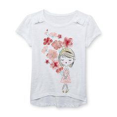 Toughskins Girl's High-Low Top - Floral & Girl - Kids - Kids' Clothing - Girls' Clothing - Girls' Shirts - Girls' T-Shirts