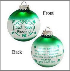 Irish Baby Blessing Ornament