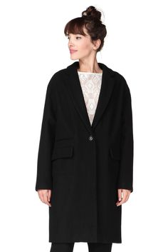 Manteau long noir Harry Sessun 230€
