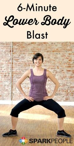 6-Minute Hips, Glutes & Thighs Workout. Some great lunge and squat variations here! | via @SparkPeople #fitness #workout #exercise