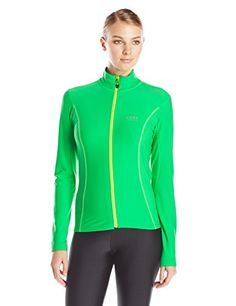 Gore Bike Wear Womens Element Thermo Lady Jersey Fresh GreenNeon Yellow Medium -- Check out the image by visiting the link. (Amazon affiliate link)