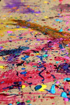 Homeschool Art Lesson - Jackson Pollock and Drip Splatter Painting