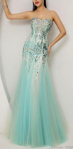 Crystal Evening Dresses Beaded Prom Gown Backless