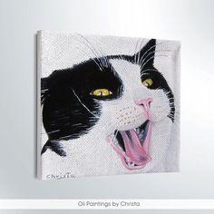 CUSTOM PET PORTRAIT painting Cat portrait by OilpaintingsChrista