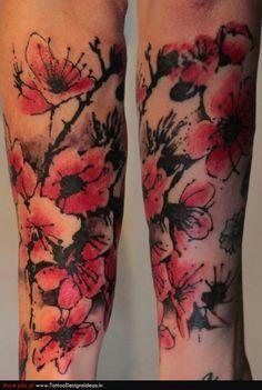 apple blossom tattoo