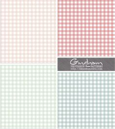 Gingham background papers.