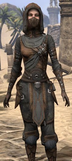 Thieves Guild Leathers - Female Close Front