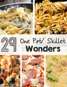 29 One Pot/Skillet Wonders
