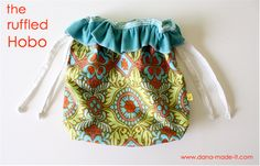 I plan to make a variety of these with Christmas fabric for reusable fabric gift wrapping (with and without the ruffle). Hobo Bag Tutorials, Sewing Tutorials, Sewing Projects, Sewing Ideas, Sewing Tips, Craft Tutorials, Craft Ideas, Sewing For Kids, Baby Sewing